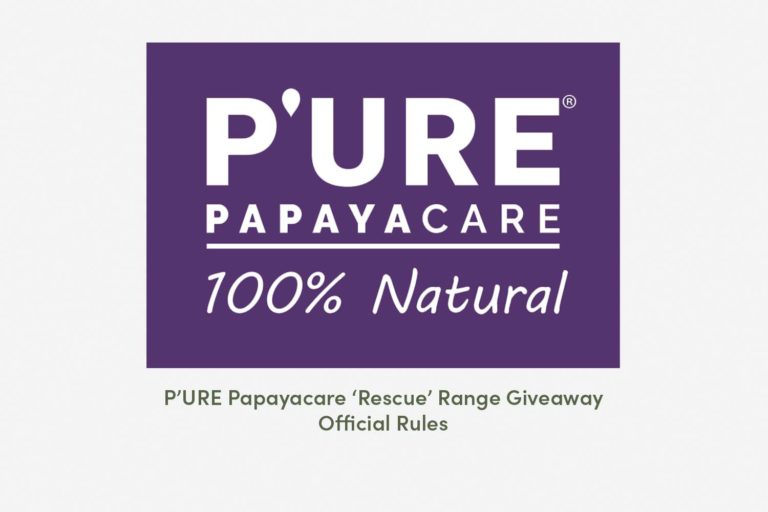 P'URE Papayacare 'Rescue' Range Giveaway – Official Rules