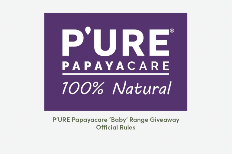 P'URE Papayacare 'Baby' Range Giveaway – Official Rules