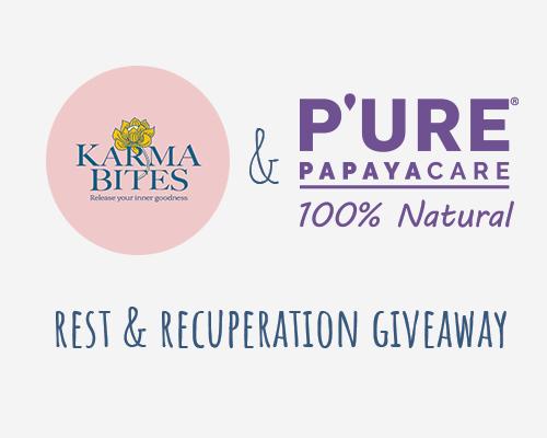 Karma Bites & P'URE Papayacare Giveaway Terms & Conditions